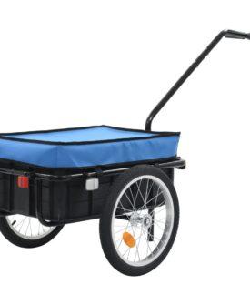 vidaXL cykelanhænger/trækvogn 155 x 61 x 83 cm blå stål