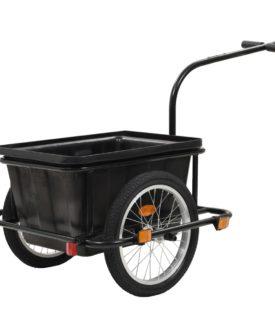 vidaxL cykelanhænger sort 50 l