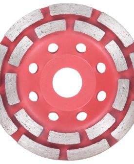 vidaXL diamantslibehjul med dobbeltrække 115 mm