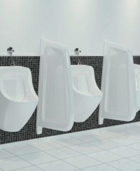 vidaXL vægophængt urinalafskærmning keramik hvid