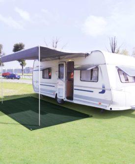vidaXL telttæppe 250 x 600 cm HDPE grøn