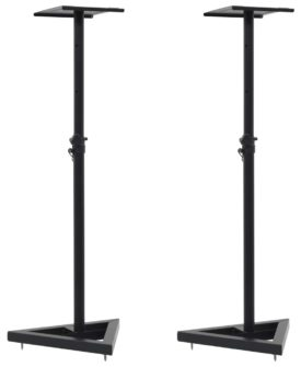 vidaXL studiehøjttalerstativer 2 stk. sort stål