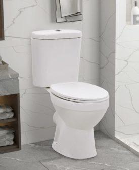 vidaXL fritstående toilet m. cisterne og soft close-sæde keramisk hvid