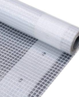 vidaXL leno-presenning 260 g/m² 2 x 2 m hvid