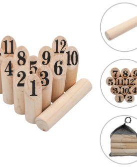 vidaXL kongespil med tal træ