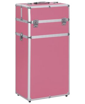 vidaXL makeupkuffert aluminium pink