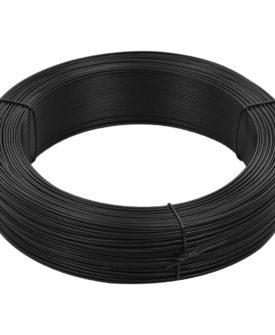 vidaXL hegnsbindetråd 250 m 1,4/2 mm stål antracitgrå
