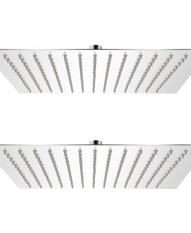 vidaXL brusehoved rainshower-funktion 2 stk. rustfrit stål 25 x 25 cm