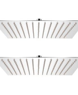 vidaXL brusehoved rainshower-funktion 2 stk. rustfrit stål 30 x 30 cm