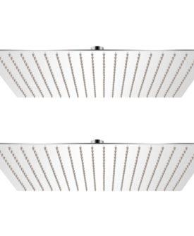 vidaXL brusehoved rainshower-funktion 2 stk. rustfrit stål 50 x 50 cm