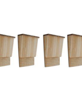 vidaXL flagermuskasse 4 stk. træ 22 x 12 x 34 cm