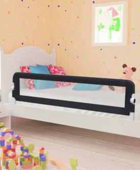 vidaXL sengegelænder til barneseng 150 x 42 cm polyester grå