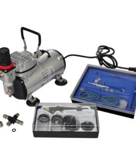 vidaXL airbrush-kompressorsæt med 2 pistoler