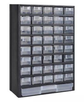 vidaXL sorteringskasse til værksted 41 skuffer plastik