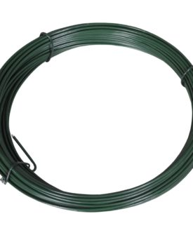 vidaXL hegnsbindetråd 25 m 1,4/2 mm stål grøn