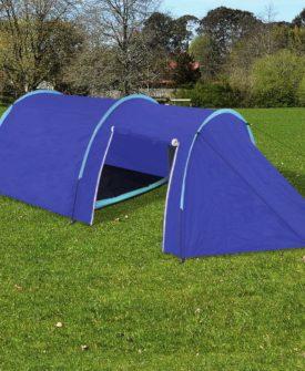 vidaXL campingtelt til 4 personer marineblå/lyseblå