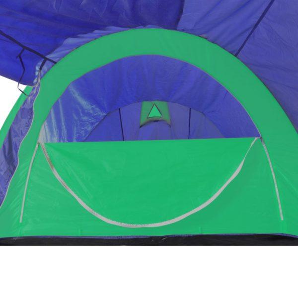 vidaXL campingtelt 4 personer marineblå/grøn
