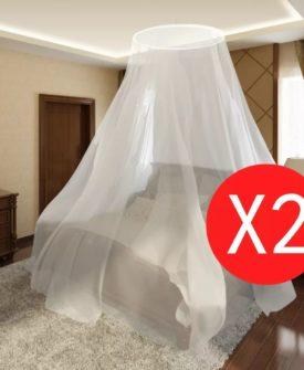 vidaXL myggenet 2 stk. rundt 56 x 325 x 230 cm