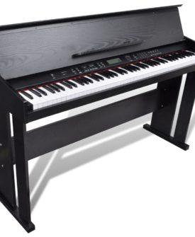 vidaXL elektronisk klaver/digitalt klaver med 88 tangenter og musikstand