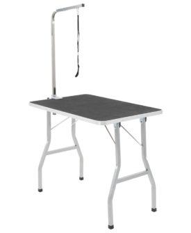 vidaXL vaske/trimmebord til kæledyr justérbart med sele