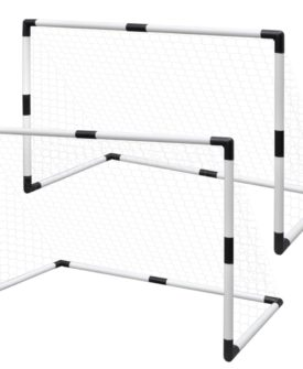 Mini Fodbold Mål Indlæg Net Sæt 2 stk til Børn 91,5 x 48 x 61 cm