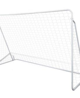 vidaXL fodboldmål med net i stål 240 x 90 x 150 cm høj kvalitet