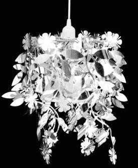 Blade Pailletter Vedhæng Lysekrone 21,5 x 30 cm Sølvfarvet