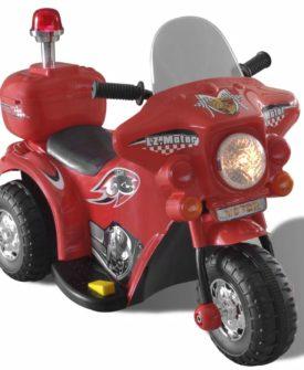 Batteridrevet legetøjsmotorcykel i rød