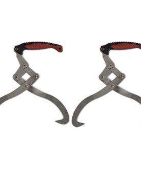 vidaXL stammetænger med TPR håndtag 2 stk.