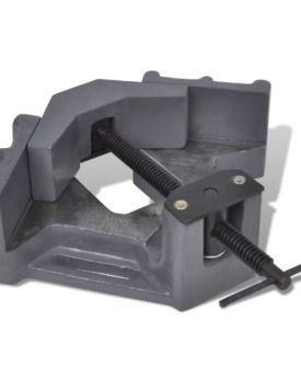 vidaXL hjørnevendt trykborsskruestik manuel betjening 115 mm