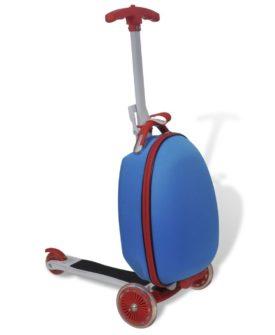vidaXL løbehjul til børn med trolleykuffert blå