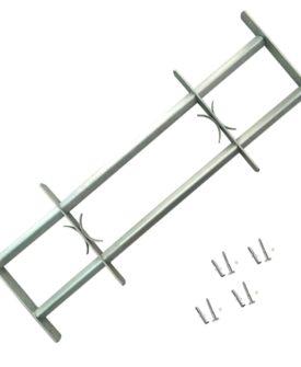 vidaXL justérbart gitter til vinduer m. 2 tværstænger 700-1050 mm