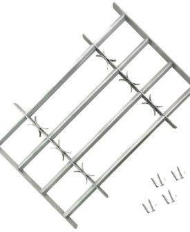 Justerbart Sikkerhedsgitter til Vinduer med 4 Tværstænger 500-650 mm