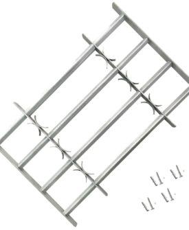 Justerbart Sikkerhedsgitter til Vinduer med 4 Tværstænger 700-1050 mm