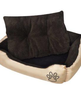 Varm hund seng med Polstret Pude L