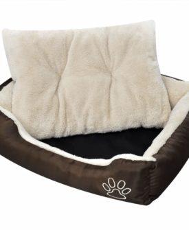 Varm hund seng med Polstret Pude S