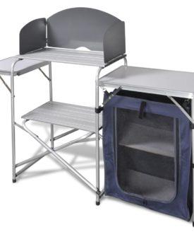 Foldbar camping køkken enhed med forruden aluminium