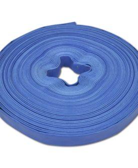 vidaXL flad slange 50 m 1″ PVC til transport af vand