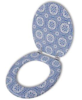 Toiletsæde med låg af MDF, porcelænsdesign