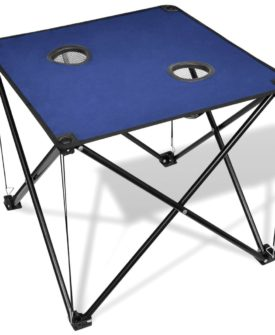 Sammenfoldeligt campingbord, blå