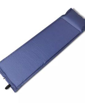 Blå selvoppustelige liggeunderlag 185 x 55 x 3 cm (Single)