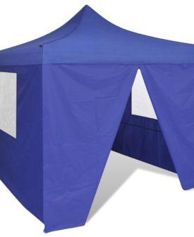 vidaXL sammenfoldeligt telt 3 x 3 m med 4 vægge blå