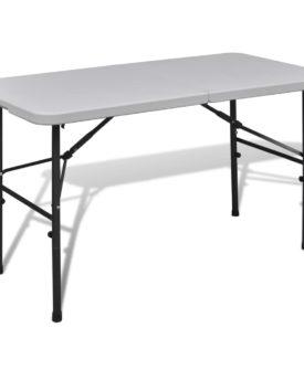 Sammenfoldeligt Havebord 122 cm HDPE Hvid