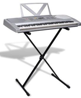 Keyboard, 61 tangenter, m/nodestativ og justerbart keyboardstativ