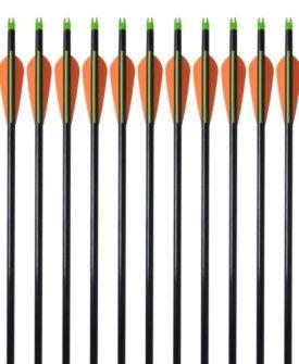 vidaXL pile til bueskydning 30″ 0,8 cm glasfiber 12 stk.