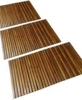 vidaXL 3 stk. akacie bademåtte 80 x 50 cm