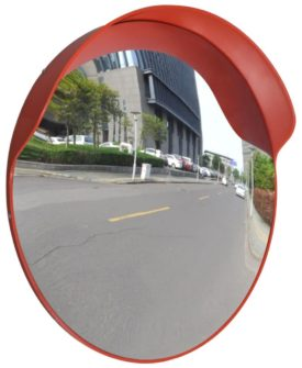 vidaXL konvekst trafikspejl PC plast orange 60 cm udendørs