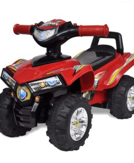 vidaXL firhjulet motorcykel til børn med lyd og lys rød