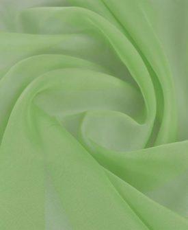 Voile Stof 1,45 x 20 m grøn