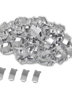 500 svalehaleclips til NATO-pigtråd, galvaniseret stål